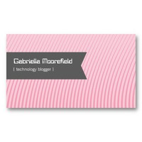 Tech Blogger Pink Contact Business Cards from Zazzle.com