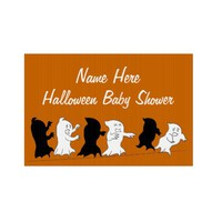 Halloween Baby Shower Yard Signs - Orange from Zazzle.com