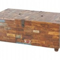 Harlequin Old Reclaimed Teak Wood Coffee Table Chest