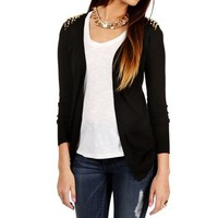 Black Long Sleeve Studded Cardigan
