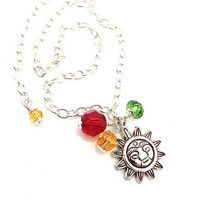 Sun Anklet, Rasta Jewelry, Reggae Bracelet Ankle, Aztec Sun, Red Green Yellow, Silver Anklet, Anklets for Women, Silver Chain Ankle Bracelet