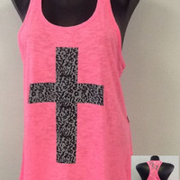 Racer tank w/ laced back-Cross