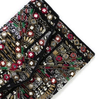 EMBROIDERED JACQUARD CLUTCH BAG - Accessories - Accessories - Woman | ZARA United States