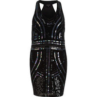 Black beaded racer back dress - party / evening dresses - dresses - women