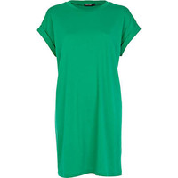 Green short sleeve t-shirt dress - t shirt dresses - dresses - women
