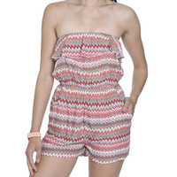 Tube Ruffle Top Romper | Shop Dresses at Wet Seal