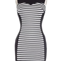 Misspent Youth Striped Mini Dress