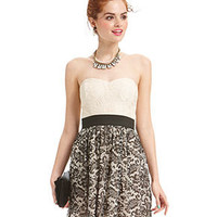 Trixxi Juniors Dress, Strapless Sweetheart Lace - Juniors Dresses - Macy's
