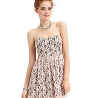 Roberta Juniors Dress, Strapless Lace Sweetheart - Juniors Dresses - Macy's