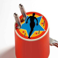 Porcelain knife block CIRCUS by 22 22 EDITION DESIGN | design Jean-Claude Cardiet