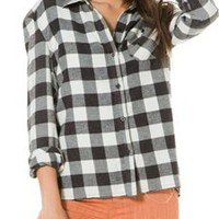 BILLABONG NEED FOR LUV PLAID FLANNEL TOP | Swell.com