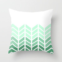 OMBRE LACE CHEVRON Throw Pillow by natalie sales