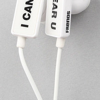 Frends Headphones The Clip I Cant Hear U Ear Buds in White : Karmaloop.com - Global Concrete Culture