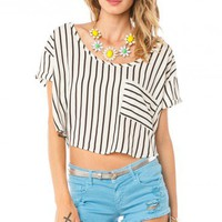 Stripes Ahead Crop Top - ShopSosie.com