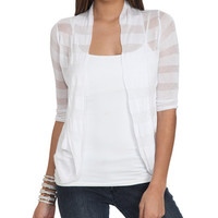 Shadow Stripe Wrap | Shop Sale at Wet Seal