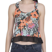 Printed Crop Circle Hem Tank | Shop Sale at Wet Seal