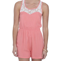 Lace X-Back Romper | Shop Dresses at Wet Seal