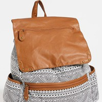 Lulu Faux Leather Flap Print Backpack | Nordstrom