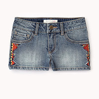 Southwestern Denim Shorts | FOREVER 21 - 2054849834