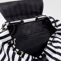 Deetz Striped Backpack