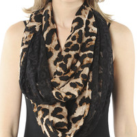 Leopard Lace Eternity Scarf  | Shop Just Arrived at Wet Seal