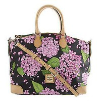 Dooney & Bourke Coated Cotton Hydrangea Print Satchel — QVC.com