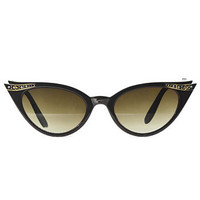 Luella Cat Eye Sunglasses in Noir