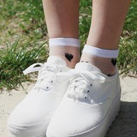 Transparent Heart Socks from Bird On A Wire