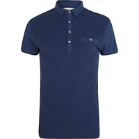 Navy blue short sleeve polo shirt - polo shirts - t-shirts / tanks - men
