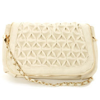 Big Buddha Loomis Cream Purse