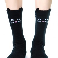 Lazy Oaf Kitty Socks Black M/L
