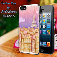 Paris By Night - Digital Art Beautiful Case-iPhone 4/4S Case, iPhone 5 Case cover Plastic