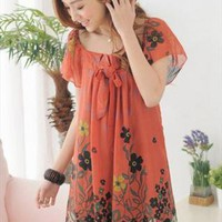 2013 orange chiffon elegant dress final sale g990 from YRB