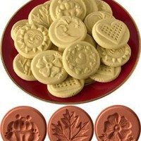 JBK Pottery Cookie Stamp Set - Nature:Amazon:Kitchen & Dining