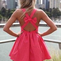 Xenia Boutique Coral bow back dress from xeniaeboutique
