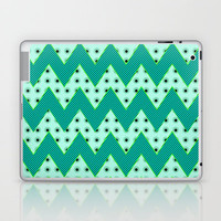 Chevron Mint Laptop & iPad Skin by Alice Gosling