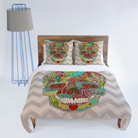 DENY Designs Home Accessories | Sharon Turner Flower Skull Duvet Cover