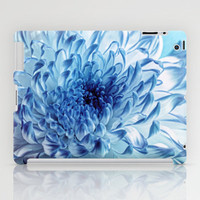 Blue Chrysanthemum iPad Case by micklyn