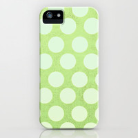 Linden Green Dots iPhone & iPod Case by Olivia Joy StClaire