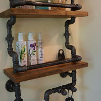 Towels And Supplies Bathroom Shelf System