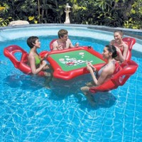 Texas Hold 'Em Floating Poker Lounge Set:Amazon:Toys & Games