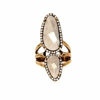House of Harlow 1960 Stacked Rif Pebble Ring in Gold