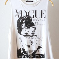 Ivory Vogue Graphic Tank