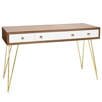Worlds Away Brent Console Table