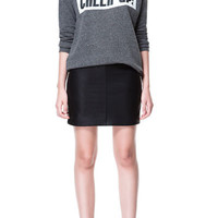 LEATHER - EFFECT BASIC SKIRT - Skirts - Woman | ZARA United States