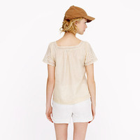 Eyelet peasant top - shirts & tops - Women's new arrivals - J.Crew