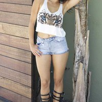 Cat Eyes Crop Top from Obsezz