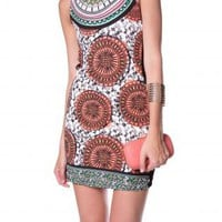 AZTEC PRINT BODYCON MINI DRESS