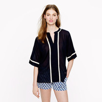 Contrast-trim tunic - shirts & tops - Women's new arrivals - J.Crew