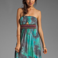 Gypsy Junkies Talulah Maxi Dress in Teal Tie Dye from REVOLVEclothing.com